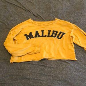 Malibu long sleeve crop top
